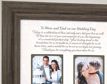 Wedding Day Gifts for Parents of the Bride Mother Father from Daughter,