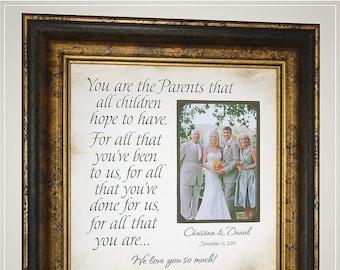 Parents of Bride Wedding Gift, Daughter Gift for Parents of the Bride, Wedding Gift for Parents of the Groom, Photo Frame Originals,