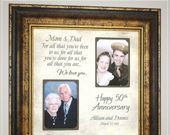 Anniversary Frame Then And Now Picture Frame 50th Etsy