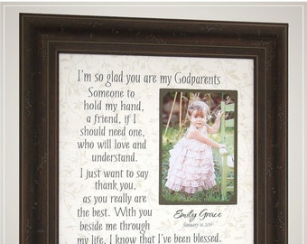 Personalized Godparents Godmother Gift for Baptism Christening, Personalized Baptism Gifts from PhotoFrameOriginals,