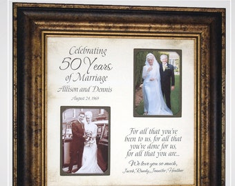 Anniversary Gift for Mom and Dad, Golden Anniversary Parents 50th Anniversary, 50th Wedding Anniversary, 50th Anniversary Gifts for Parents,