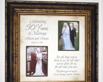 Parents 50th Anniversary Gift, 50th Anniversary Gift for Mom Dad Grandparents,