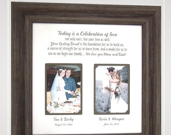 Gifts for Parents on Wedding Day, Parents of the Groom Wedding Gifts, Personalized Photo Frame,