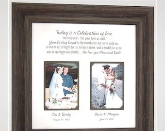 Unique Wedding Gift for Parents of the Bride and Groom Mom and Dad, Personalized Wedding Gifts from PhotoFrameOriginals Photo Frames,