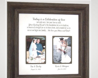 Personalized Photo Mat Wedding Anniversary Picture Frame Quote Print Lyrics First Dance, Custom Wedding Picture Frame Multi Photo Mat,