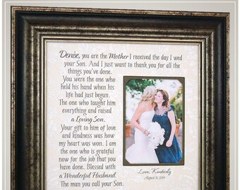 Mother of the Groom, Gift for In-laws, In Laws Wedding Gift, Personalized Wedding Frame, Mother In Law Gift,