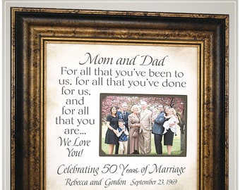 Personalized Anniversary Gifts Wedding Anniversary Quote Frame Etsy