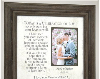 Wedding Gifts for Parents of the Bride, Wedding Gift for Parents of the Groom, Custom Wedding Picture Frames,
