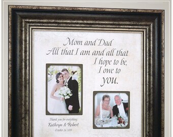 Wedding Gift for Parents of the Bride  from Daughter, Parents of the Groom Thank You Gift by Photo Frame Originals,