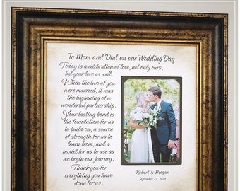 Personalized Wedding Gift for Parents of the Bride, Handmade Wedding Gifts from PhotoFrameOriginals Custom Photo Mats,