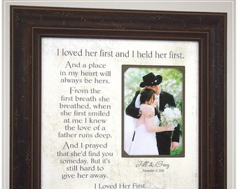 Father of the Bride Thank You Gift for Dad, Handmade Wedding Gifts from PhotoFrameOriginals Custom Photo Mats,