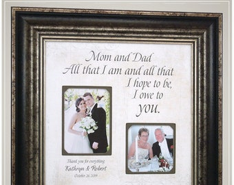 Personalized Wedding Gift for Parents Father and Mother from Bride and Groom, Parents Wedding Thank You Gift,