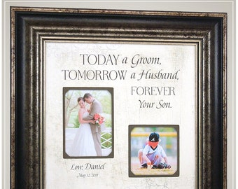 PARENTS THANK YOU wedding gift, Wedding Gift from Groom to parents, Today A Groom,