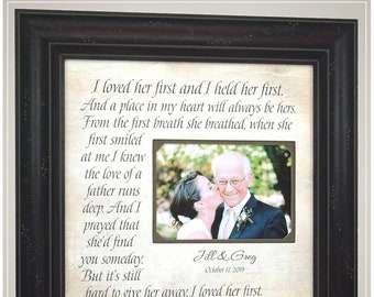 Wedding Gift for Dad from daughter, Handmade Wedding Gifts from PhotoFrameOriginals Custom Photo Mats,