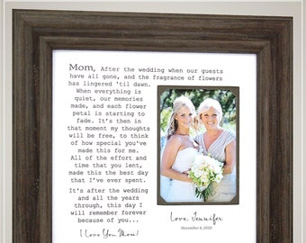 Mother of the Groom Gift from Bride, Wedding Day Gift for In Laws, Mother of the Groom Gifts, Parents of the Groom Frame Gift from Bride,