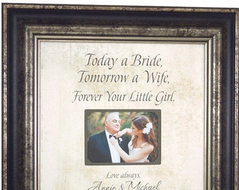 Personalized Photo Frame Wedding, Father of the Bride Gift, 16x16