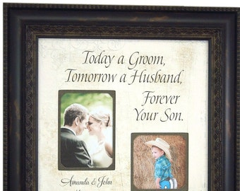 Personalized Wedding Gift for Parents, Today A Groom, Mother of the Groom Gift, Wedding Gift for Mom, Parents Wedding Gift, 16x16