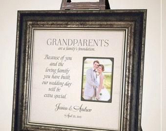 Personalized Grandparents Gift, Gift to Nana and Papa, Gift for Grandma grandpa grandmother grandfather, Gift for grandparents, 16 X 16