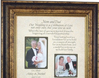 Parents of the Bride Gift, Parents of the Groom Gift, Wedding Gift for Parents, 16x16