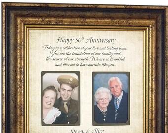 Golden Anniversary, Parents Anniversary Gift, 50 Year Anniversary, 50th Cake Topper, Anniversary Party, 50th Anniversary Gift, 16x16