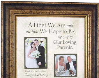 Personalized Wedding Frame Parents of the Bride Parents of | Etsy