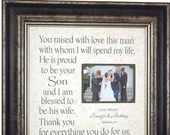 Mother of the Groom Gift, Wedding Gift for Mother of the Groom, You Raised With Love, Wedding Gift for In Laws, 16x16