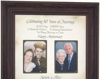 Parents Anniversary Gift, 50 Year Anniversary, 50th Cake Topper, Anniversary Party, 50th Anniversary Gift, Golden Anniversary, 16x16