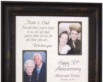 50th anniversary gift parents anniversary gift personalized etsy