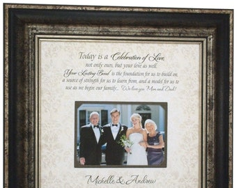 PARENTS THANK YOU Wedding Frame, Today Is A Celebration Of Love, Parents Gift, Parents of the bride, Parents Wedding Gift, 16x16