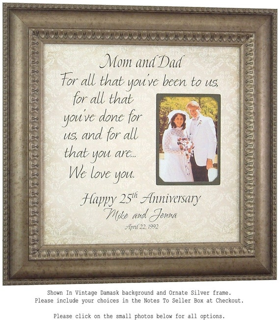 Parents Anniversary Gift 10th Anniversary Gift 25th