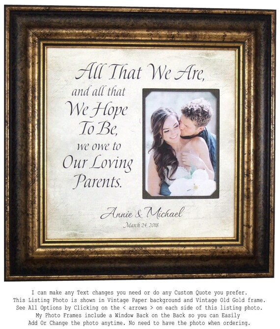 Father of the Bride Gift Personalized Wedding Frame PARENTS | Etsy