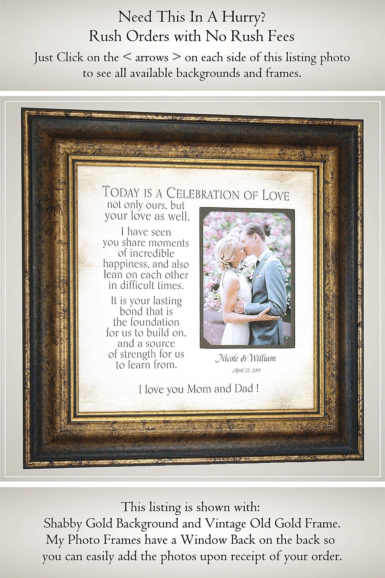 Amazoncom Lifesong Milestones Parent Wedding Gift Wedding Photo