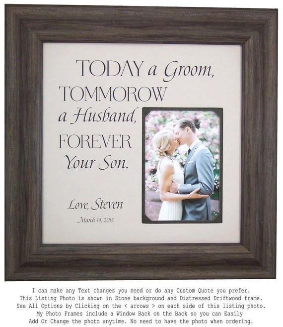 Parents of the Groom Gift Mother of the Groom Today A Groom | Etsy