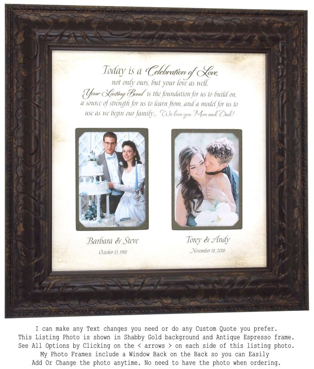 Wedding Frame Gift Mother of the Bride Gift Parents Thank