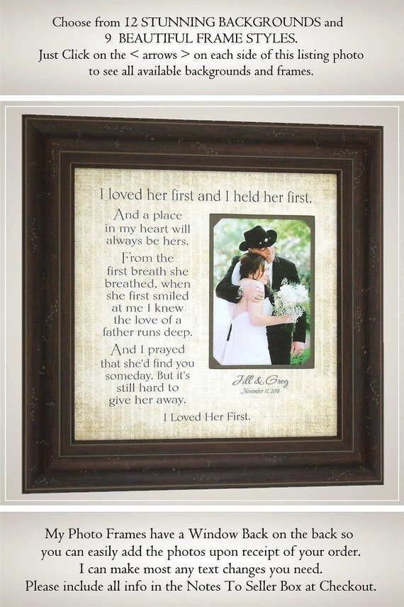 Father of the Bride Gift Lyrics Wedding Song First Dance I | Etsy