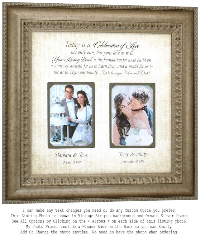 Parents Wedding Gift Parents Thank You Gift Parents Wedding Gift
