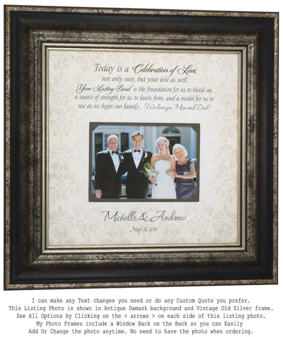 Parents Thank You Wedding Frame Today Is A Celebration Of Etsy