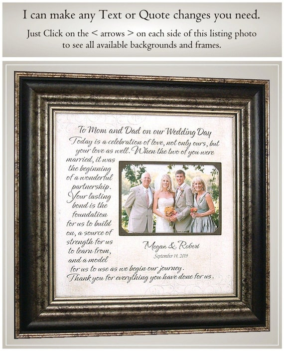 Father of the Bride Wedding Gift from Daughter Handmade Wedding Gifts from PhotoFrameOriginals Custom Photo Mats