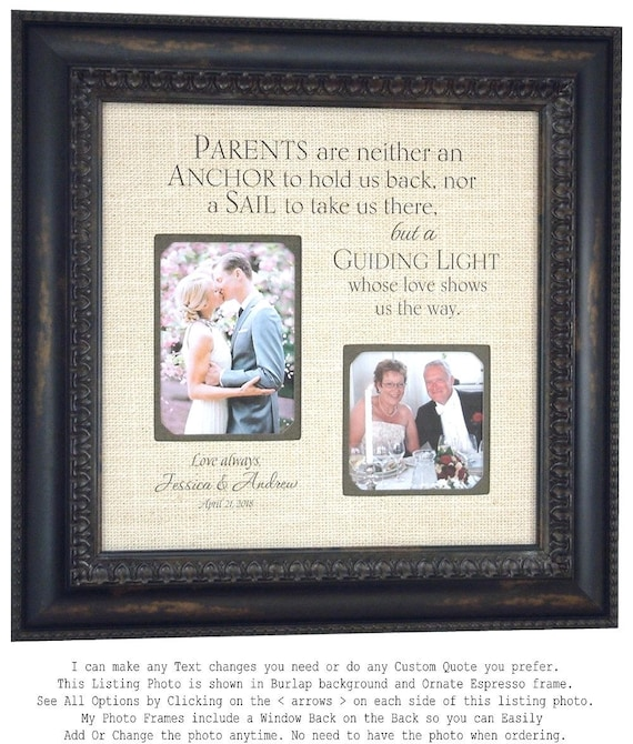 Wedding Picture Frame Parents of the Bride Gift Parents of