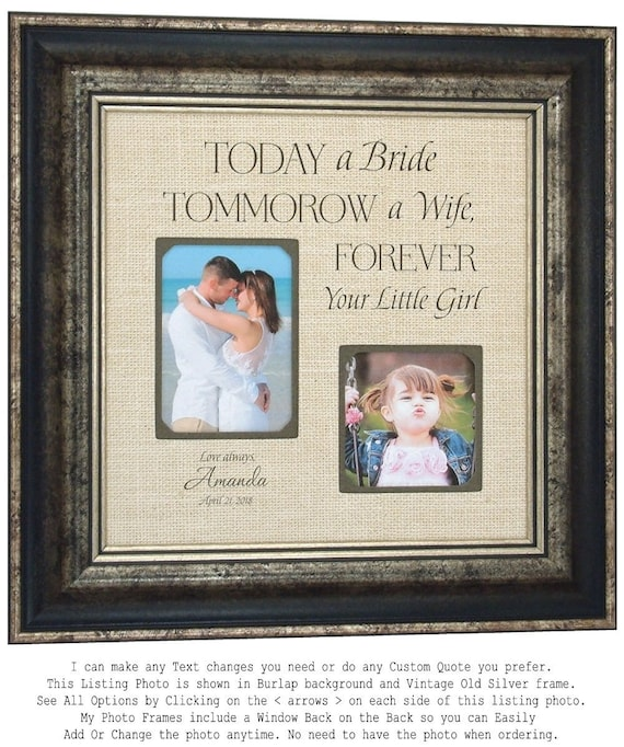Personalized Wedding Frame Gift for Father of the Bride 16x16