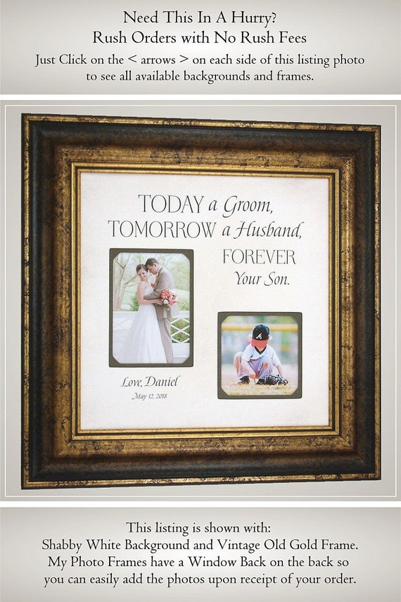 Mother Son Gift Gift For Parents Of The Groom Wedding Gift Etsy