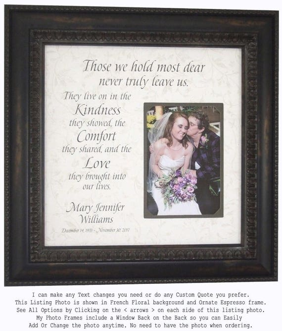 Memorial Gift In Memory Of Mom Personalized Memorial Frame Etsy