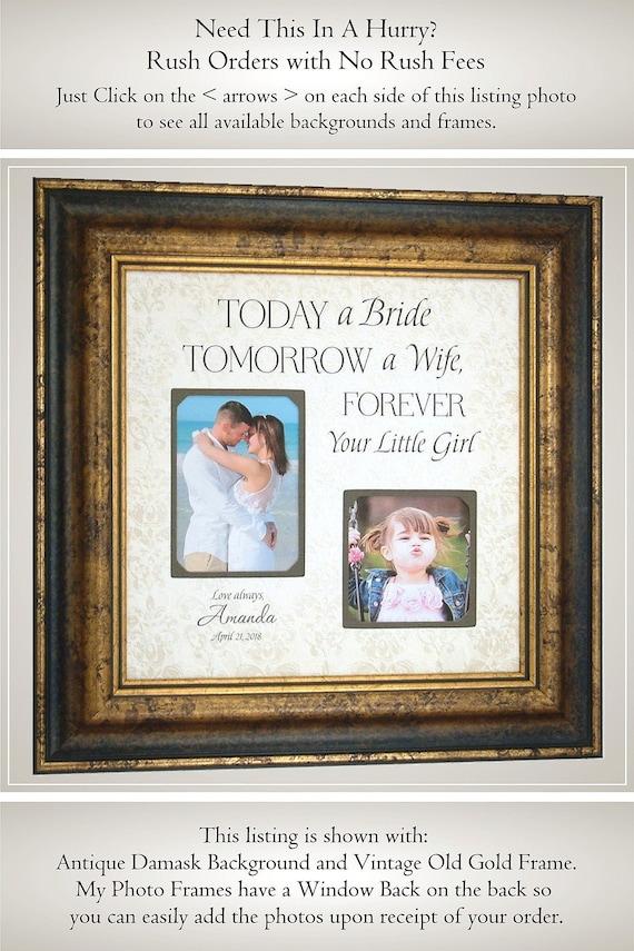 Father Of The Bride Gift Favorite Walk Wedding Frame Bridal Etsy