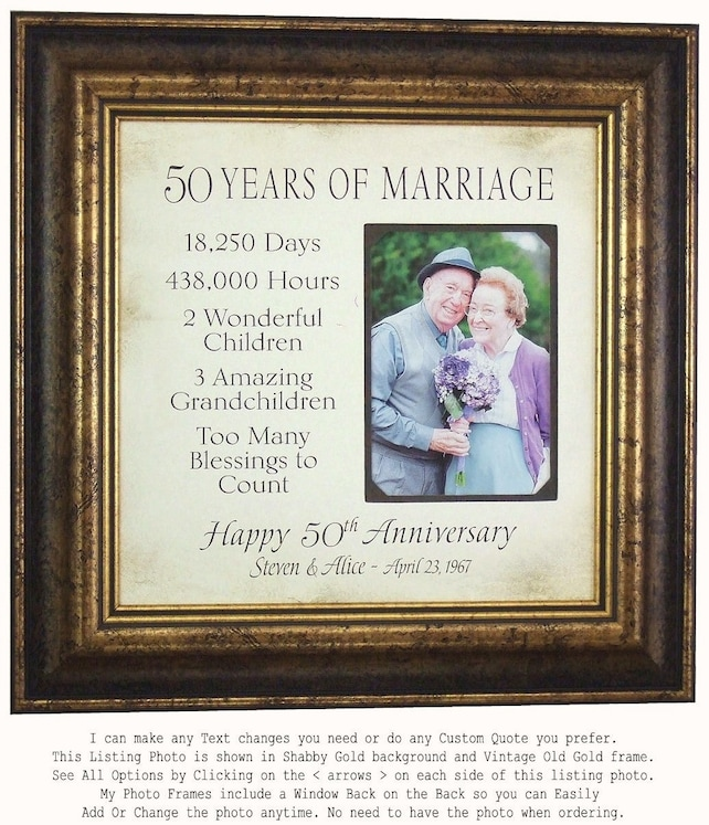 Parents Anniversary Gift 50 Years Of Marriage Anniversary Gift
