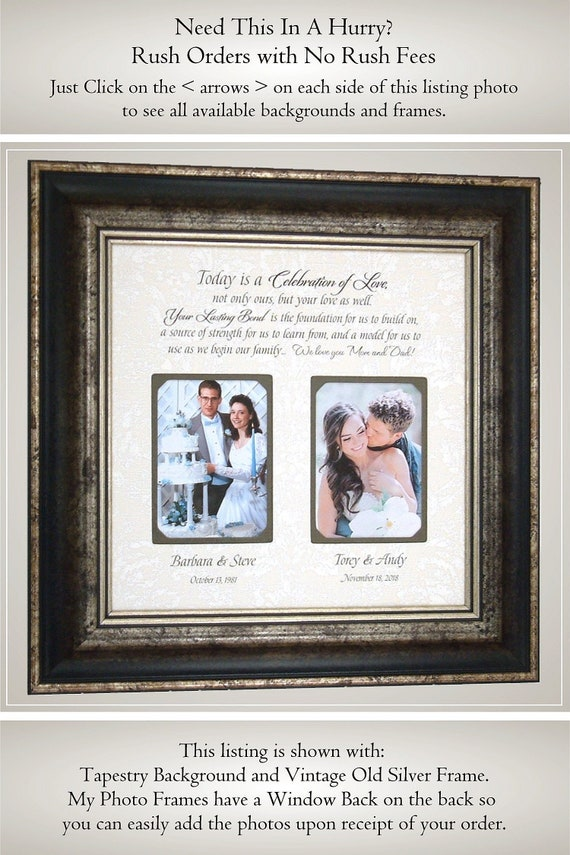 In Laws Wedding Gift Wedding Gift For Mom And Dad Wedding Etsy