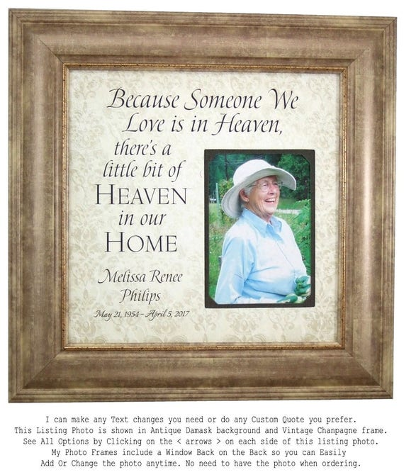 In Memory Of frame Remembrance Gift Wedding Memorial In | Etsy