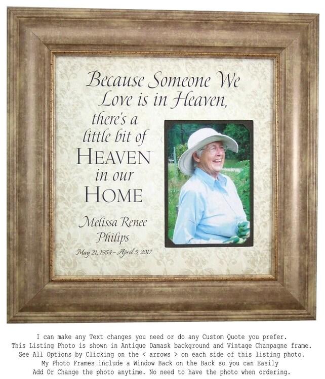 In Memory Of frame Remembrance Gift Wedding Memorial In   Etsy