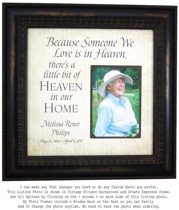 In Memory Frame Memorial Gift Personalized Remembrance Gift | Etsy