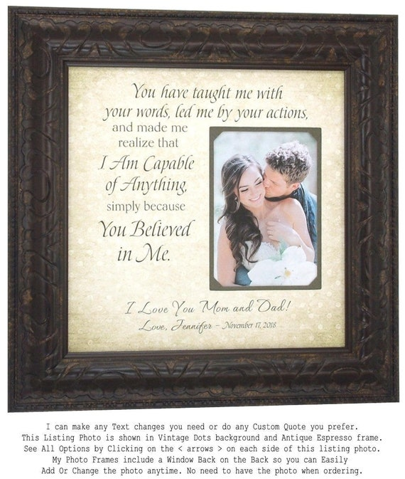 Parents Wedding Gift Personalized Wedding Picture Frame | Etsy