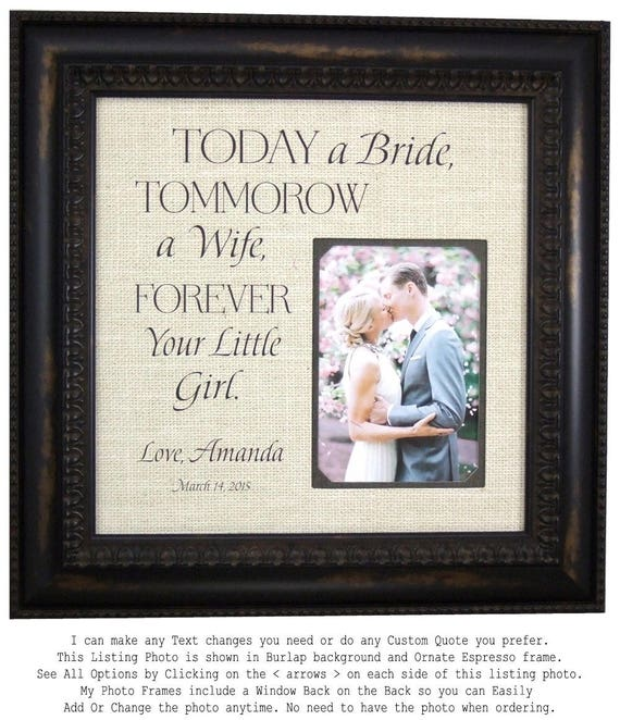 Personalized Wedding Picture Frame Unique Wedding Gift Etsy